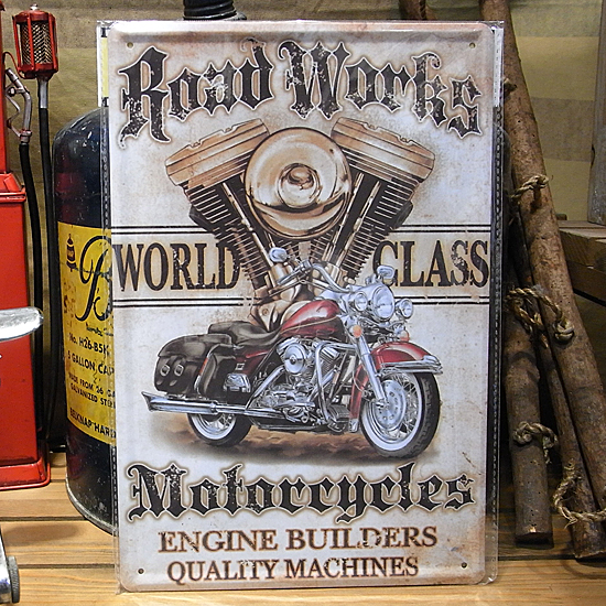 モーターサイクル看板 A4サイズ   ティンサイン アメリカン雑貨の画像