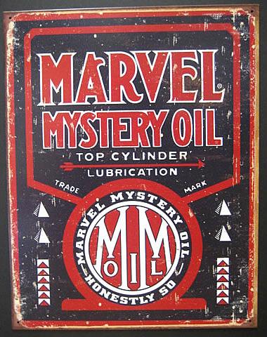オイルメーカーブリキ看板 Marvel Mystery ティンサイン アメリカン雑貨の画像