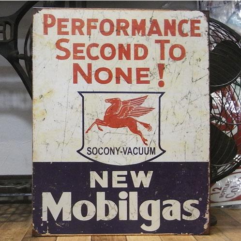 オイルメーカーブリキ看板 モービル ティンサイン アメリカン雑貨の画像