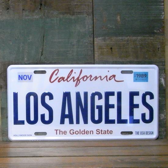 LOS ANGELES カリフォルニア プレートナンバープレート アメリカン雑貨の画像