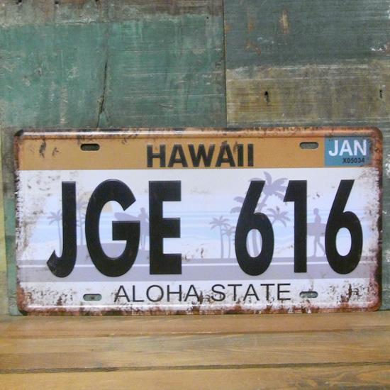 HAWII ハワイプレート ナンバープレート アメリカン雑貨の画像
