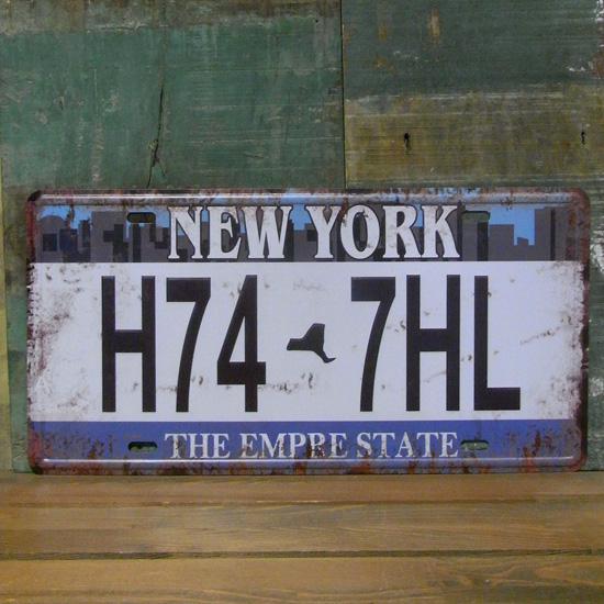 NEW YORK プレート ナンバープレート アメリカン雑貨の画像