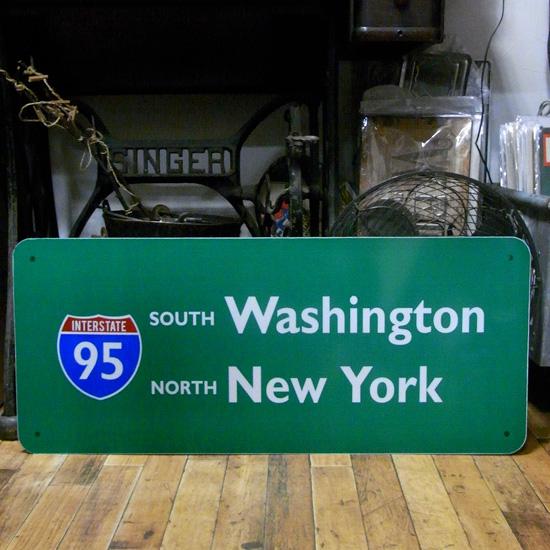 トラフィックサイン看板【 ニューヨーク ワシントン】 トラフィックサイン 標識 アメリカン雑貨の画像