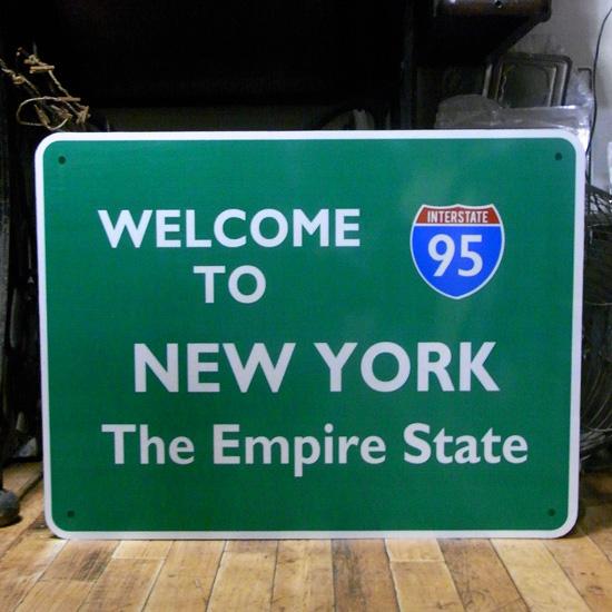 トラフィックサイン看板【 ニューヨーク】 トラフィックサイン 標識 アメリカン雑貨の画像