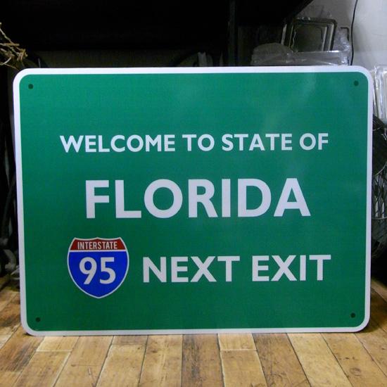トラフィックサイン看板【 フロリダ】 トラフィックサイン 標識 アメリカン雑貨画像
