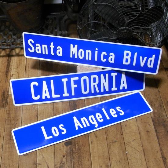 ストリートサイン看板 アメリカ アルミエンボストラフィックサイン 標識 アメリカン雑貨画像