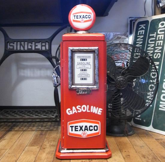 テキサコガスポンプ型キャビネット アメリカン雑貨の画像