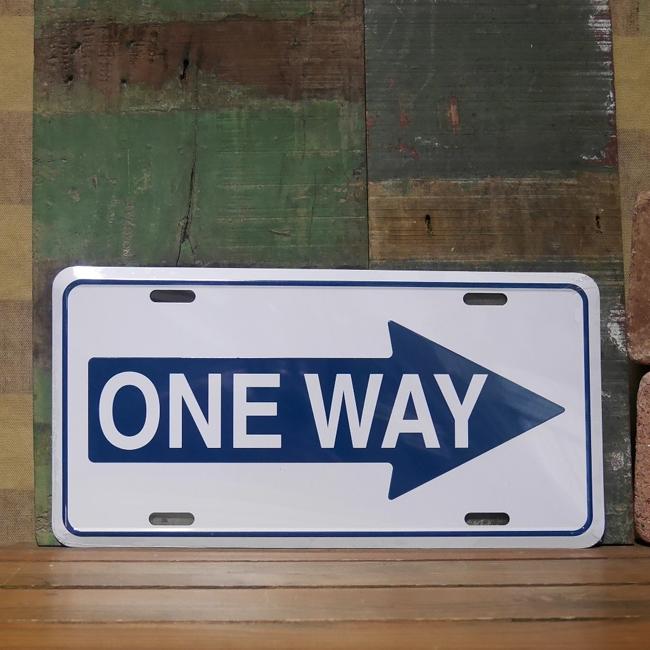 コマーシャルプレート【ONE WAY】アルミサインプレート トラフィックサイン アメリカン雑貨画像