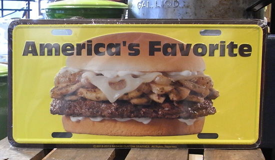 コマーシャルプレート【ハンバーガー】アルミサインプレート アメリカン雑貨の画像