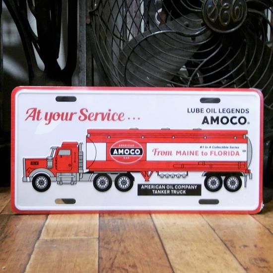 コマーシャルプレート【AMOCO】アルミサインプレート アメリカン雑貨の画像