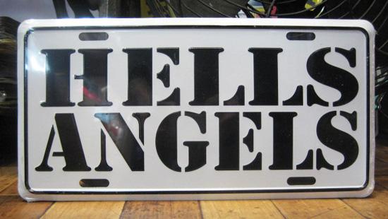 コマーシャルプレート【HELLS ANGELS】アルミサインプレート アメリカン雑貨の画像