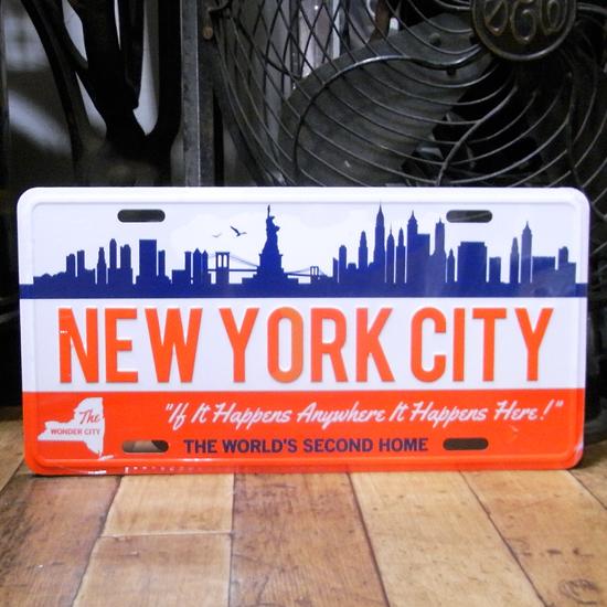 コマーシャルプレート【ニューヨーク】アルミサインプレート アメリカン雑貨の画像