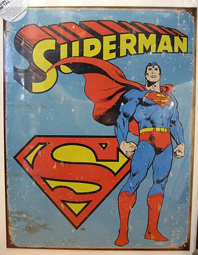 アメコミブリキ看板【スーパーマン】 ティンプレート ブリキ看板 アメリカン雑貨の画像