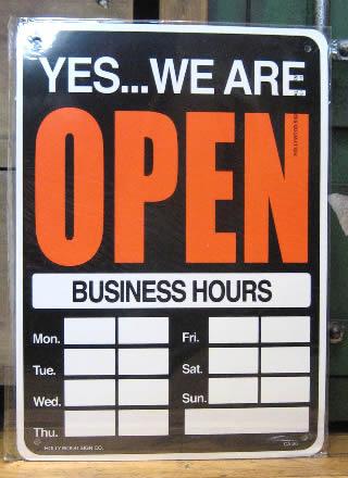 OPEN/CLOSED リバーシブルプラスティックサイン オープン/クローズ看板 アメリカン雑貨の画像