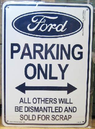 フォード専用 パーキングプレート プラスティックサイン看板 アメリカン雑貨の画像