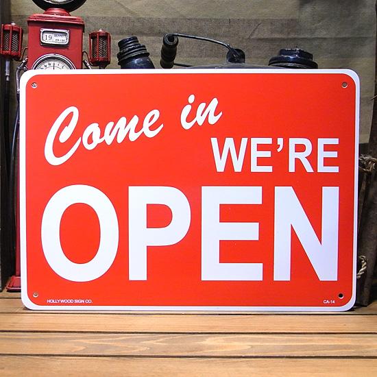 オープンサインプレート OPENプラスティックサイン看板 アメリカン雑貨の画像
