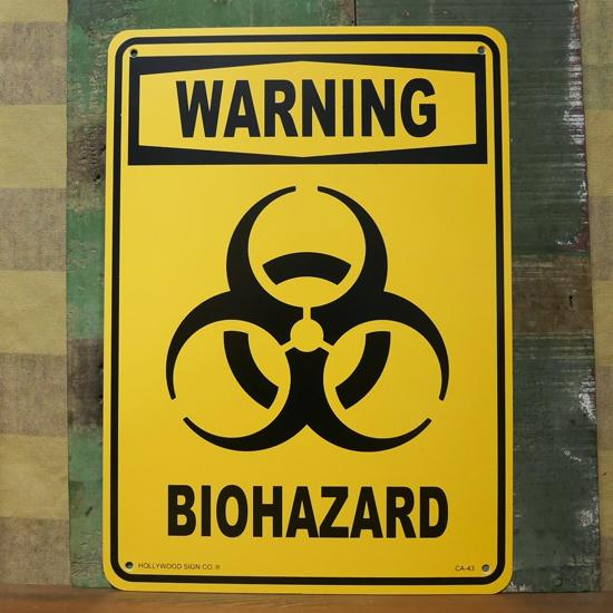 WARNING 警告サインプレート プラスティックサイン看板 アメリカン雑貨の画像