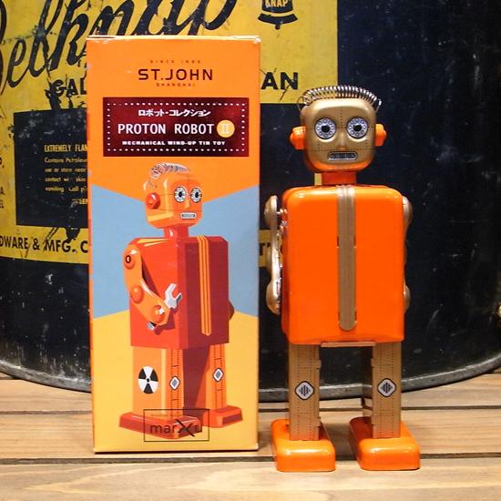 プロトンロボット 【PROTON ROBOT】ブリキ製ロボット ゼンマイロボット アメリカン雑貨の画像