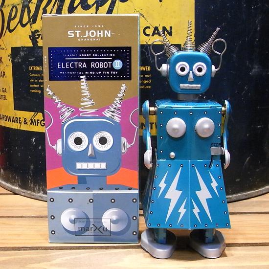 エレクトラロボット 【ELECTRA ROBOT】ブリキ製ロボット ゼンマイロボット アメリカン雑貨画像