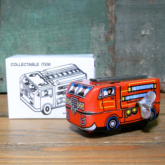 ミニファイアエンジン ブリキのおもちゃ 消防車 アメリカン雑貨画像