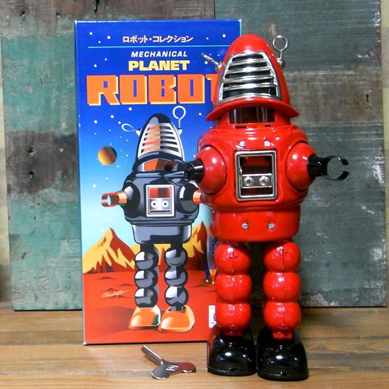 プラネットロボット ブリキ製ロボット ゼンマイロボット アメリカン雑貨の画像