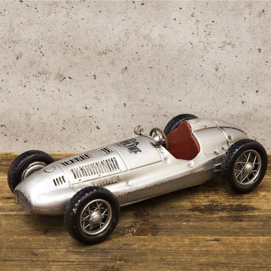 F1 レーシングカー ブリキのおもちゃ ブリキ製自動車 アメリカン雑貨の画像