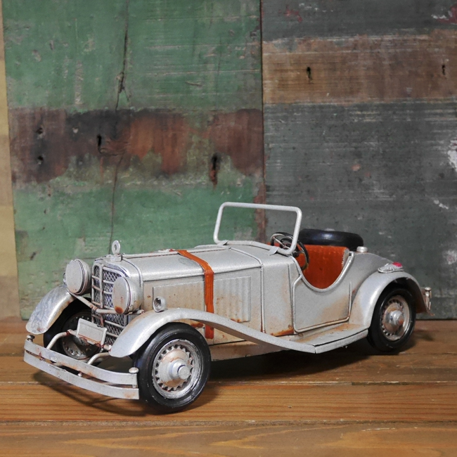 クラシックモーガン ブリキ製自動車 オープンカー ブリキのおもちゃ アメリカン雑貨の画像