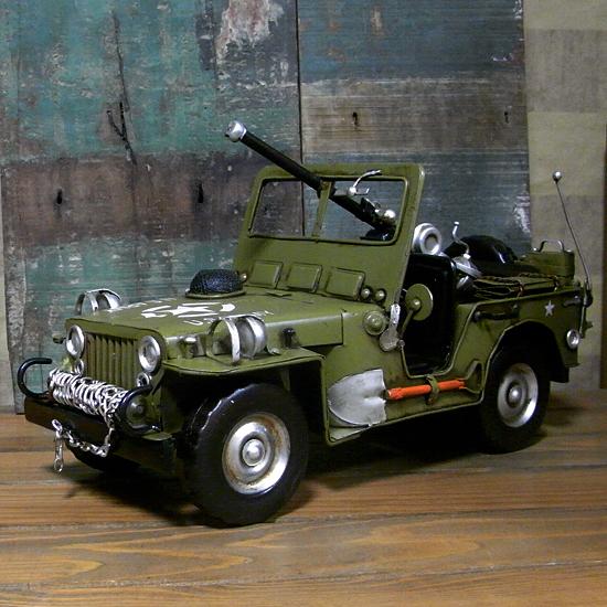 アーミージープ ブリキ製自動車 ブリキのおもちゃ アメリカン雑貨の画像