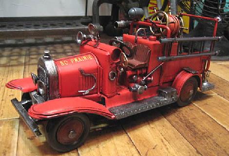 消防車B ブリキ製自動車 ブリキのおもちゃ アメリカン雑貨の画像