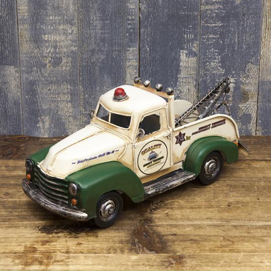 レッカー車Wrecker ブリキ製自動車 ブリキのおもちゃ アメリカン雑貨の画像