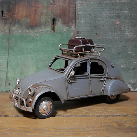 ブリキのおもちゃ オールド シトロエン 2cv 自動車 インテリア アメリカン雑貨の画像