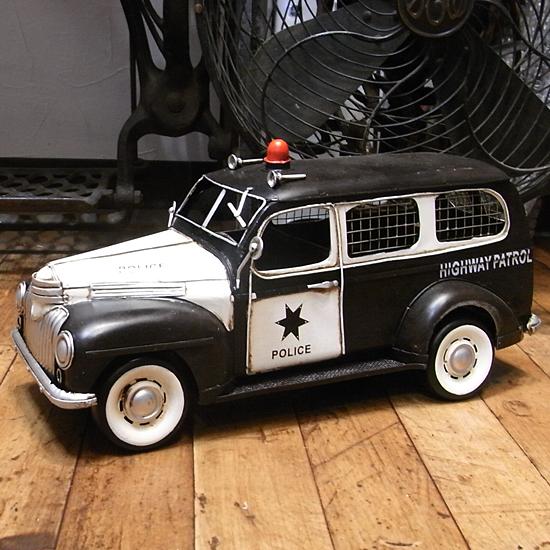 シェリフ ワゴン 1947  ブリキ製自動車 ブリキのおもちゃ アメリカン雑貨の画像