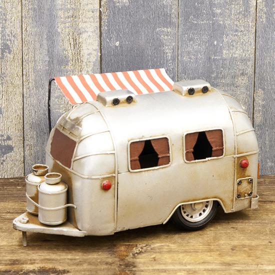 エアストリーム ブリキのおもちゃ 自動車 キャンピングトレーラー アメリカン雑貨の画像