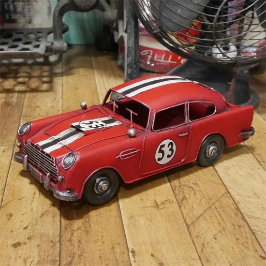 レーシングカー ブリキのおもちゃ 自動車 インテリア クラシックカー アメリカン雑貨の画像