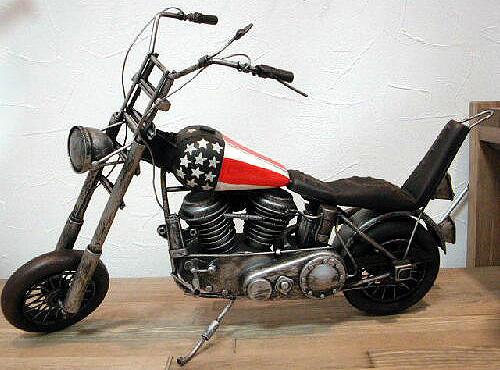 イージーライダーモデルバイク ブリキのおもちゃ ブリキ製オートバイ アメリカン雑貨画像