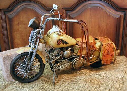 インディアン カスタムオートバイ ブリキのおもちゃ ブリキ製オートバイ アメリカン雑貨画像