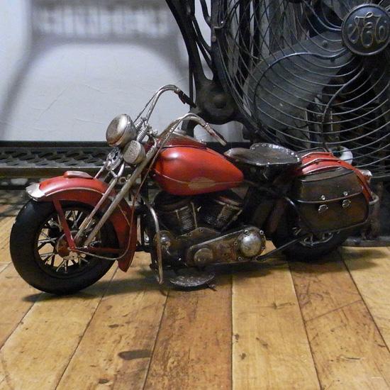 オールド バイク ビンテージカー ブリキのおもちゃ ブリキ製オートバイ アメリカン雑貨の画像