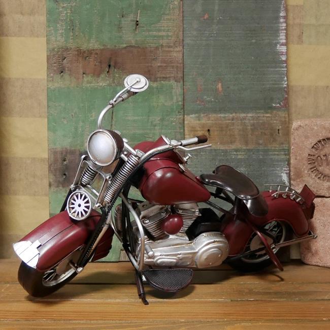 オールドバイク ブリキのおもちゃ ブリキ製オートバイ ブリキインテリア アメリカン雑貨の画像