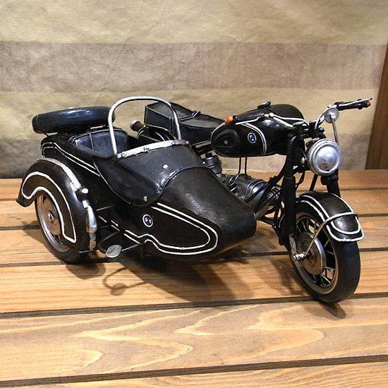 サイドカー【BMW】モデル ブリキのおもちゃ ブリキ製オートバイ アメリカン雑貨の画像