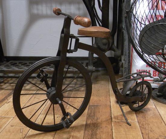 オールドバイシクル アンティークタイプ自転車 ブリキのおもちゃ ブリキ製自転車 アメリカン雑貨の画像