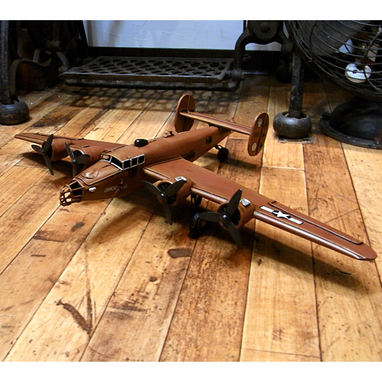 爆撃機 【ダイヤモンドリル】 ブリキのおもちゃ ブリキ製飛行機 アメリカン雑貨画像