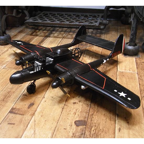 戦闘機 ブリキのおもちゃ ブリキ製飛行機 アメリカン雑貨の画像