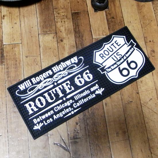 ルート66 バーマット ラバーマット アメリカン雑貨の画像