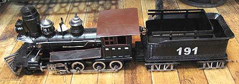 ブリキ製 蒸気機関【191】SL機関車 ブリキのおもちゃ 汽車 トラム レトロインテリアの画像