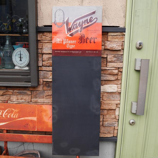 【SALE】アンティークタイプ チョークボード メニューボード 黒板 レトロ雑貨 ブリキ看板の画像
