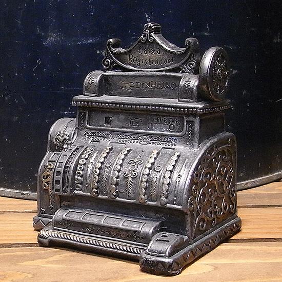 アンティークタイプ レトロレジスターバンク 貯金箱レトロ アンティーク レトロ雑貨の画像
