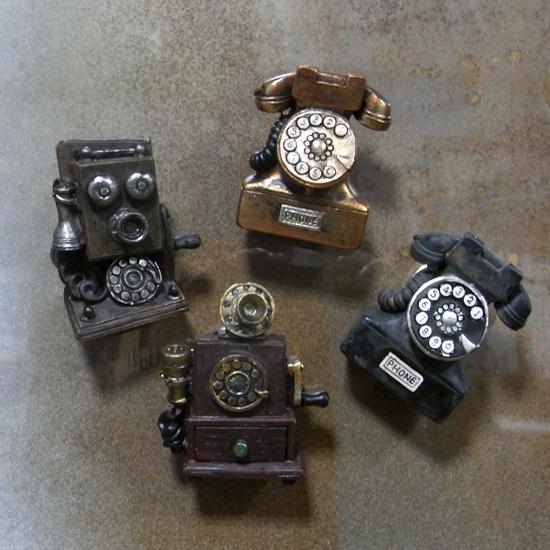 アンティークタイプ電話機メモマグネット レトロ アンティーク レトロ雑貨の画像