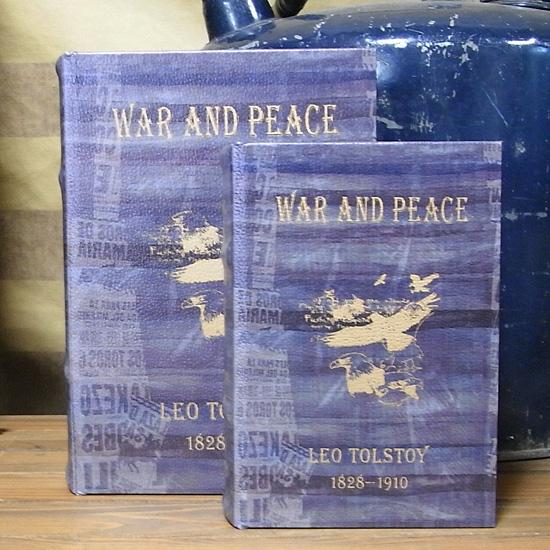 アンティークタイプシークレットBOOK 【戦争と平和】2冊セット レトロ アンティーク レトロ雑貨の画像