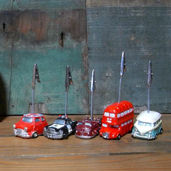 オールディーズ カードスタンド メモスタンド車 アメリカン雑貨画像