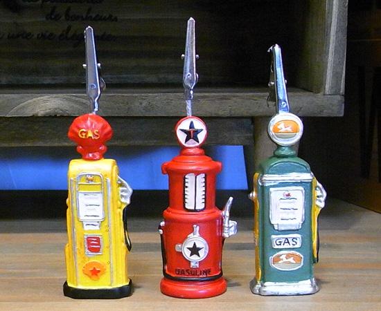 ガスポンプ型 カードスタンド メモスタンド アメリカン雑貨の画像